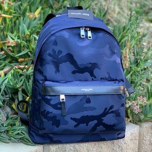 Michael Kors Kent Large Indigo Backpack